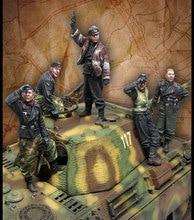 Figurines en résine non assemblées [modèle tusk], échelle 1/35, grand ensemble de modèles en résine, 5 figurines, eb008