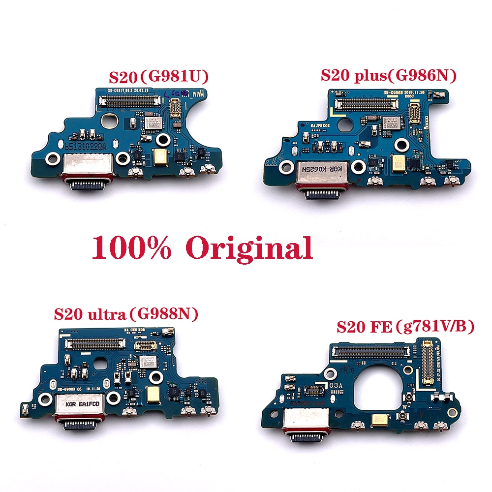 Charger Board Flex For Samsung Galaxy S20 Plus Ultra FE G986N G981U G988N G781V/B USB Port Connector Dock Charging Ribbon Cable enlarge