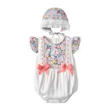 Yg Brand Children's Clothing 2021 Summer Cute New Baby Jumpsuit Bowknot Baby Triangle Bag Butt Creep