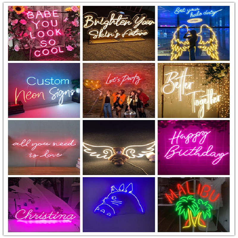 Neon Sign Customise For Home Wall Decor Wedding Office  Party Bar Business Logo Personalized Gifts Idea Free Shipping enlarge