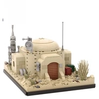 moc space war desert village slums home escape from jedha fight spacecraft nano falcon building block bricks toys for gifts