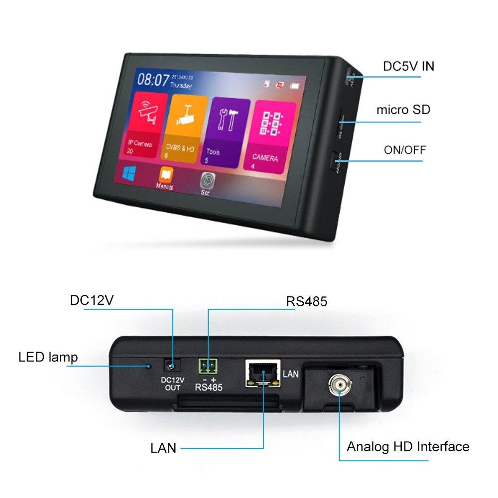 4 Inch 4K H.265 H.264 IP Camera Tester 8MP AHD/TVI/CVI CVBS CCTV Tester Security Monitor PTZ controller Rapid ONVIF IPC Tester enlarge