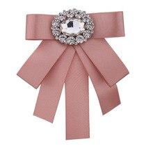 I-remiel nouvelle cravate nœuds broche strass tissu Art broches et broches dames broches collier décoration marié Blouse bijoux Badge