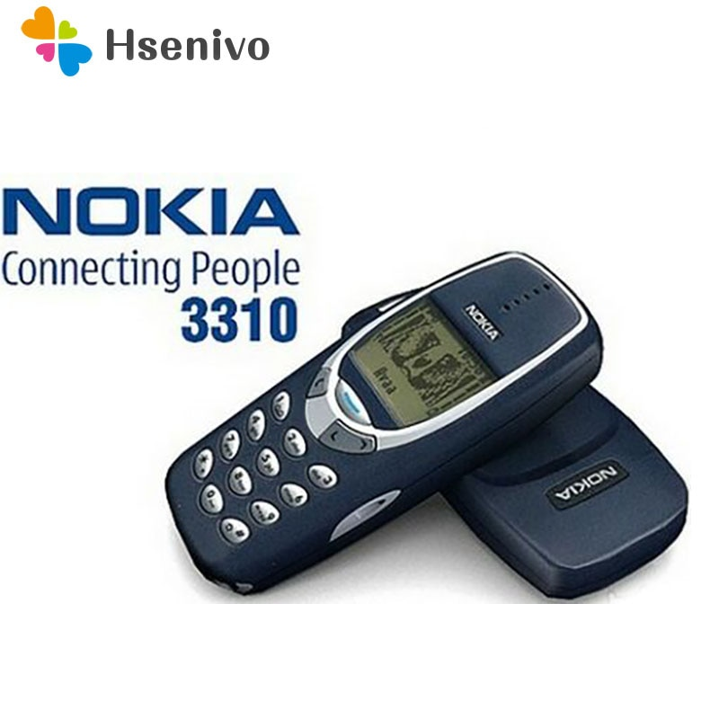 Teléfono Móvil 3310 Original desbloqueado Nokia 3310 teléfono barato 2G GSM soporte ruso y árabe teclado teléfono móvil