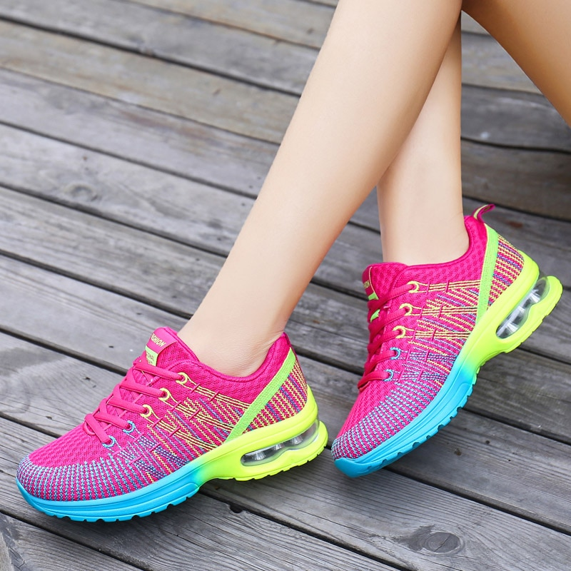 New Woman Shoes For Women Sneakers Breathable Running Shoes Ladies Comfortable Walking Sport Female Tenis De Mujer Deportivas lin king comfortable women casual shoes fashion breathable running walking swing shoes slip on ladies sneakers tenis feminino