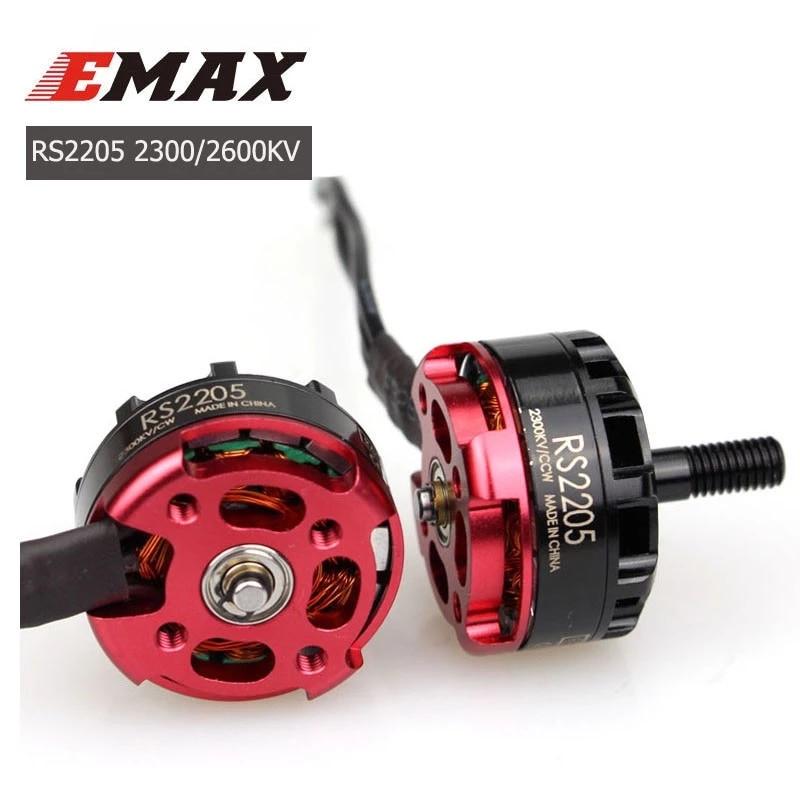 Original emax rs2205 2205 2300kv 2600kv 3-4s brushless racing edition motor cw/ccw para rc fpv racing freestyle 5 Polegada drones