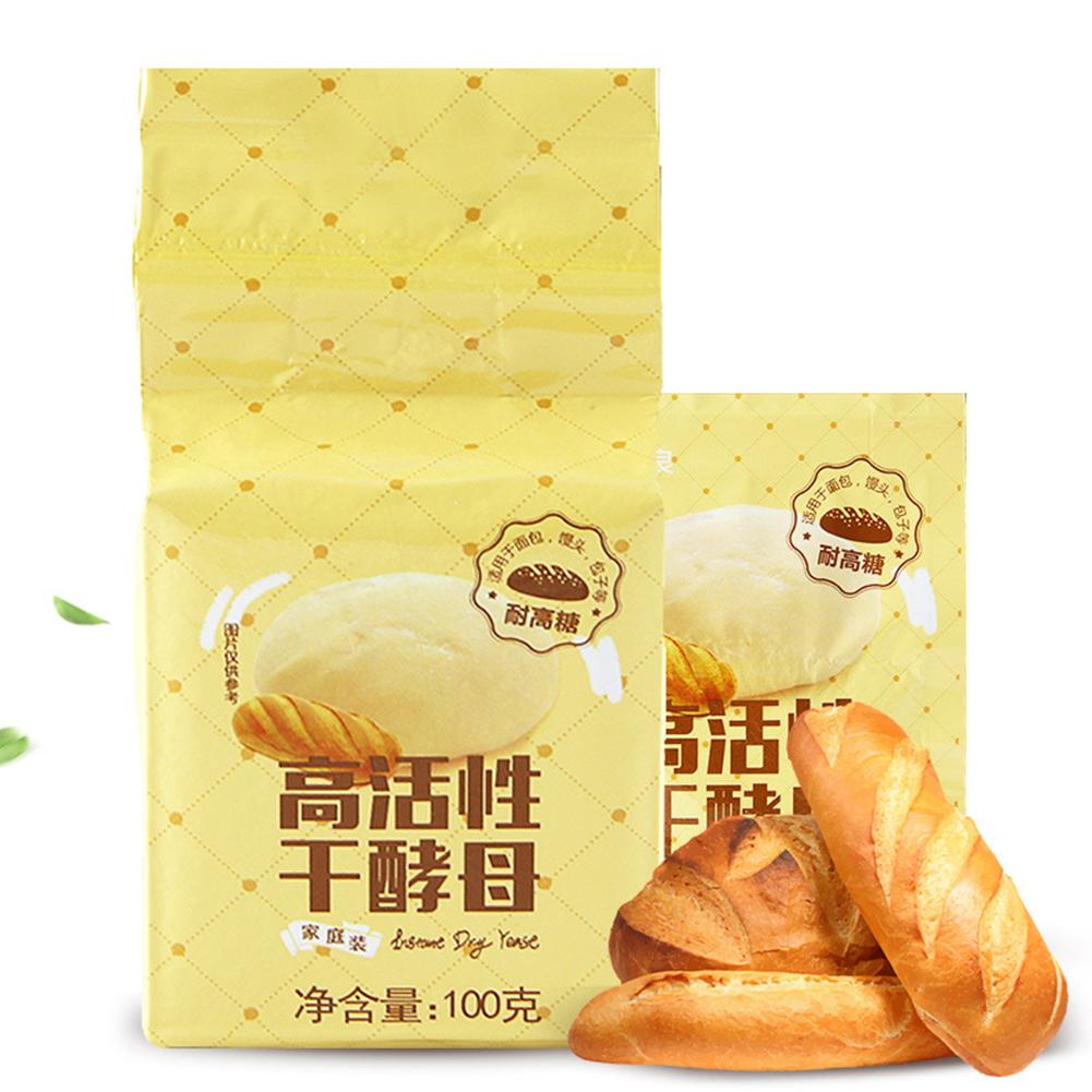 100g Highly Active Instant Dry Yeast High Glucose Tolerance Bun Bread Baking Powder Kitchen Baking Ingredients Supplies