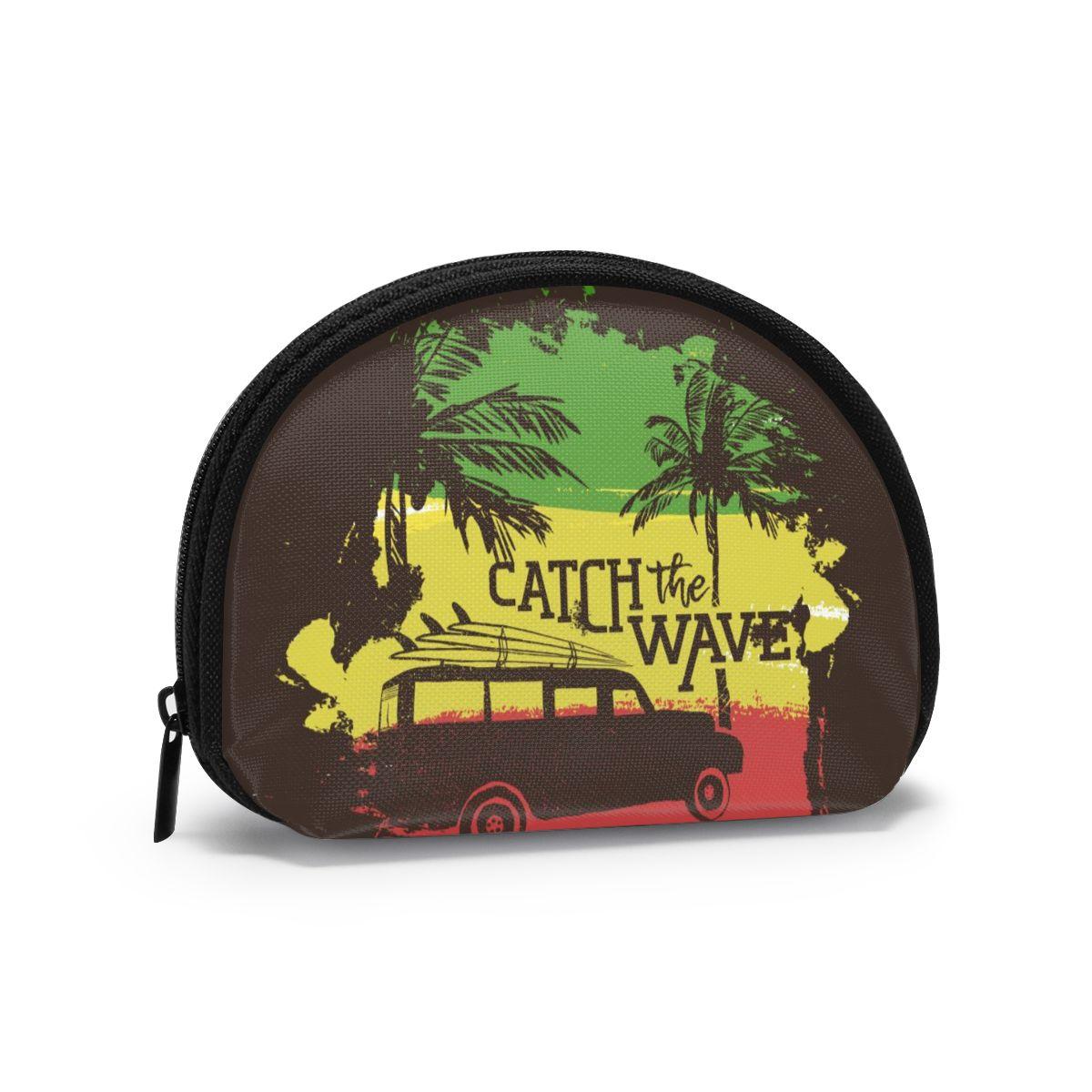 Tablas de Surf de coche en la Costa Tropical de la playa de estilo clásico monedero corto carteras genuinas tarjetero cartera mujer de alta calidad