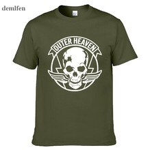 Mens Casual Spiel Metal Gear Solid V 5 Mgs 5 Äußere Himmel Logo 100% Baumwolle Kurzarm T-shirts T Shirts