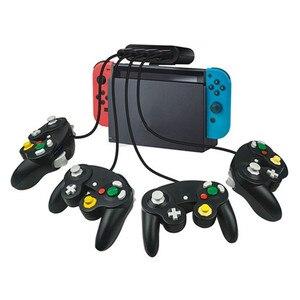 3 em 1 4 Porta USB Conversor Para Nintendo Switch/Wii U/PC para Gamecube NGC Controlador Adaptador 1021 #2