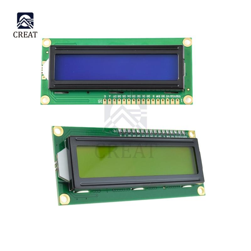 1602 ЖК дисплей Дисплей модуль с межсоединений интегральных схем I2C TWI последовательный интерфейс SPI доска DC 5V для Arduino, синие, желтые, Экран подстветка ЖК дисплей модуль