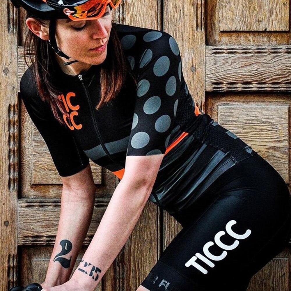 TIC CC-Conjunto de Ropa de Ciclismo profesional para Mujer, Maillot, Kit de...