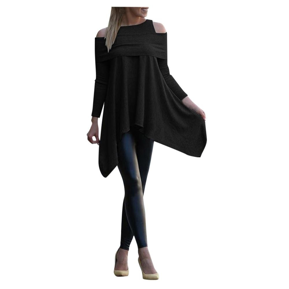 winter Womens blouse Solid Long Sleeve Irregular girl Sweatshirt Loose Print Pullover Tops female Blouse
