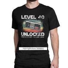 Novelty Born In 1980 40ปี40thวันเกิดของขวัญTeeเสื้อTshirtแขนสั้นพิมพ์Teeเสื้อ