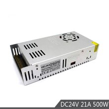 Pojedyncza moc wyjściowa zasilacz Led DC24V 21A 500W transformator AC110V 220V do DC 24V SMPS do taśmy Led lampa światła 3D drukuj