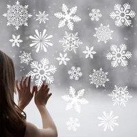 Autocollants muraux avec joyeux noel  flocons de neige  decorations murales en PVC  decorations de fenetre  decorations pour noel et noel  nouvel an  noel  2021