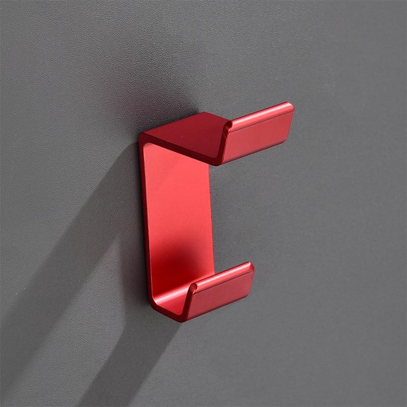 Крючок для одежды Bojia, алюминиевая красная вешалка для халата, аксессуары для ванной комнаты, крючок для одежды, настенный тканевый держател...