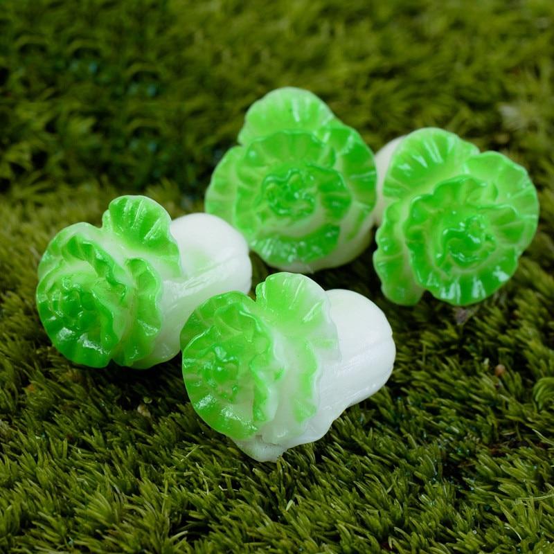 1pcs Cabbage Vegetables Plant China Korea Model Small Statue Figurine Crafts Figure Ornament Miniatures Home Decor