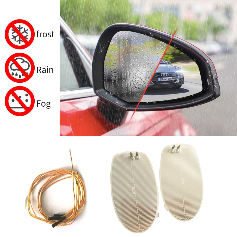 car mirror heated covers side view electric exterior replace mirror remove rain fog frost heater parts 14.5*8 cm dimming auto