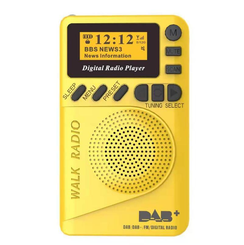 DAB FM RDS Radio Digital Radio TF Card Long Battery Life Portable Sports Outdoor LCD Display MP3 Portable Global Full Band