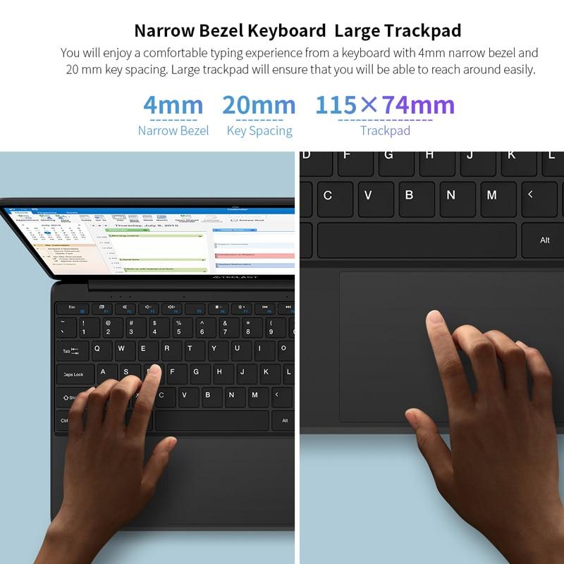 Teclast F6s Windows10 Laptop Intel Apollo Lake N3350 Quad Core LPDDR4 8GB RAM 128GB SSD 1920*1080 Ips 13.3 Inch Notebook PC
