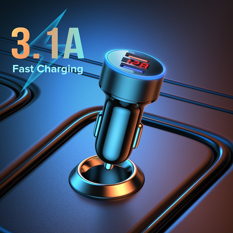 Charger in Car Quick Charge 3.0 For iPhone 12 11 pro max For Huawei Xiaomi Samsung Mobile Phone LED