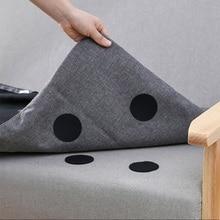 Porte-canapé caoutchouc antidérapant   5 pièces/ensemble, tapis de feuille polyvalent, antidérapant, double face, tapis Velcro, autocollants de préhension