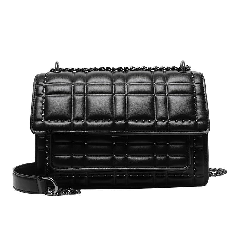 Vintage Brand Designer Ms. ling ge Chain Shoulder/Crossbody Bag 2020 New Riveting Nail Shoulder Messenger Bags Square Sling Bag