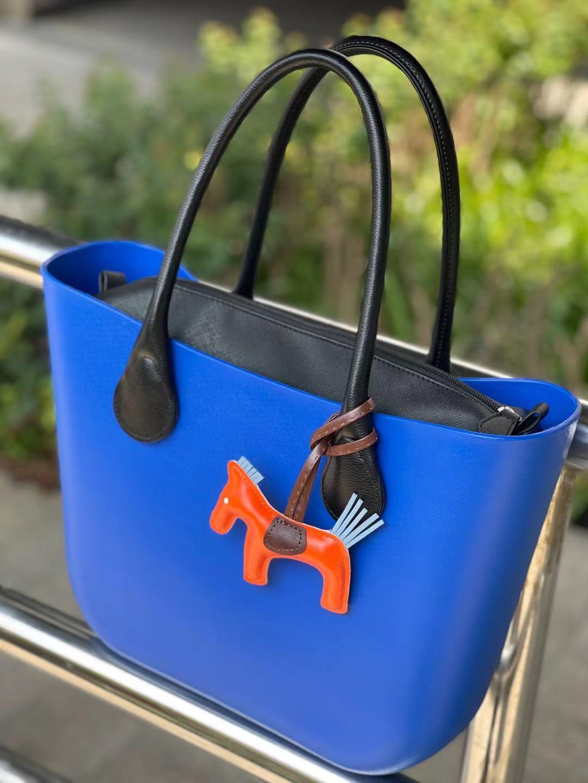 حقائب مطاط السيليكون O حقائب مطاطية سلسلة حقيبة حبل بولي PU حقيبة يد جلدية الشاطئ مقاوم للماء 2021