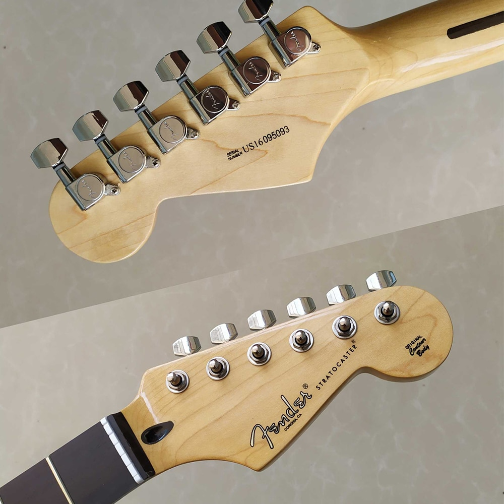 22 Frets Electric Guitar Neck GRG226DXD Electric guitar neck with Fender logo Guitar Pegs Tuner enlarge