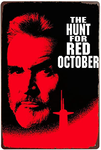 Cartel de pared de estaño de la caza para la película Red...
