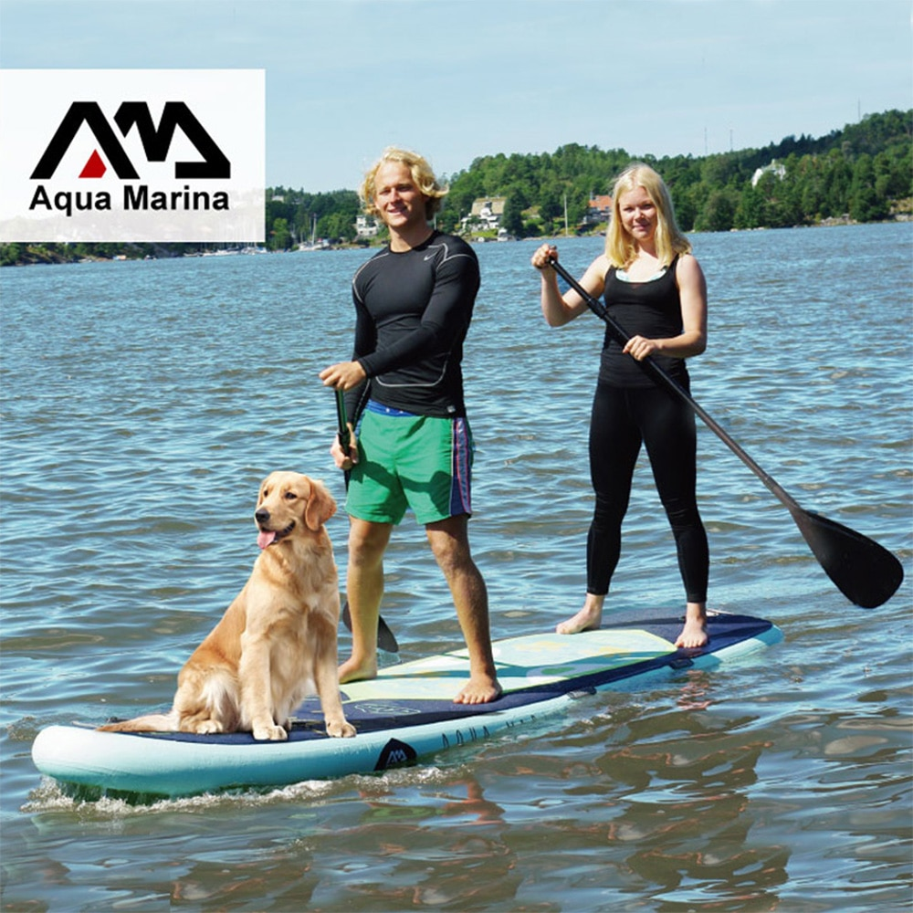 370 * 87 * 15CM AQUA MARINA SUPER TRIP inflatable sup stand-up paddle board surfboard double paddling board stand-up surfboard