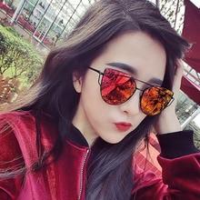 Fashion Super Light Hollow Frame Sunglasses For Women Cat Eye Shape Brand Design Decorative Coated S
