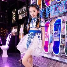 Traje de baile de jazz de estilo de moda para niñas barman Moda nacional Girl t-stage show para niños
