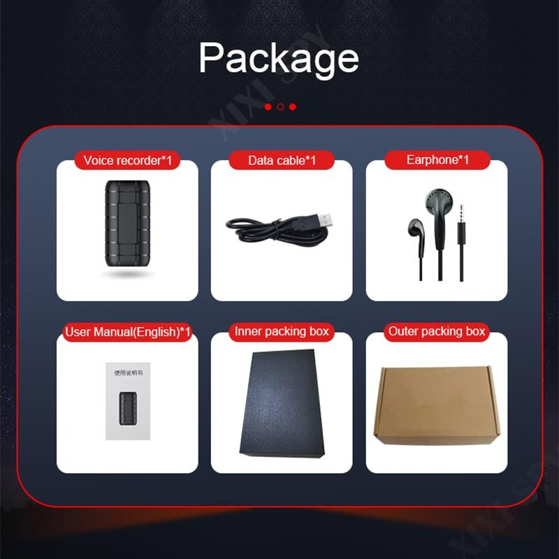 XIXI SPY 500hours Voice recorder Dictaphone pen audio sound mini activated digital professional micro flash drive enlarge