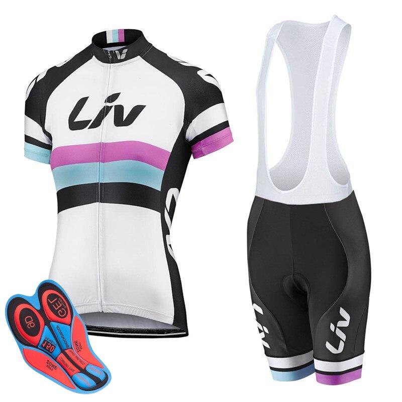 Conjunto De Jersey De Ciclismo Para Mujer De Ropa De Bicicleta De...