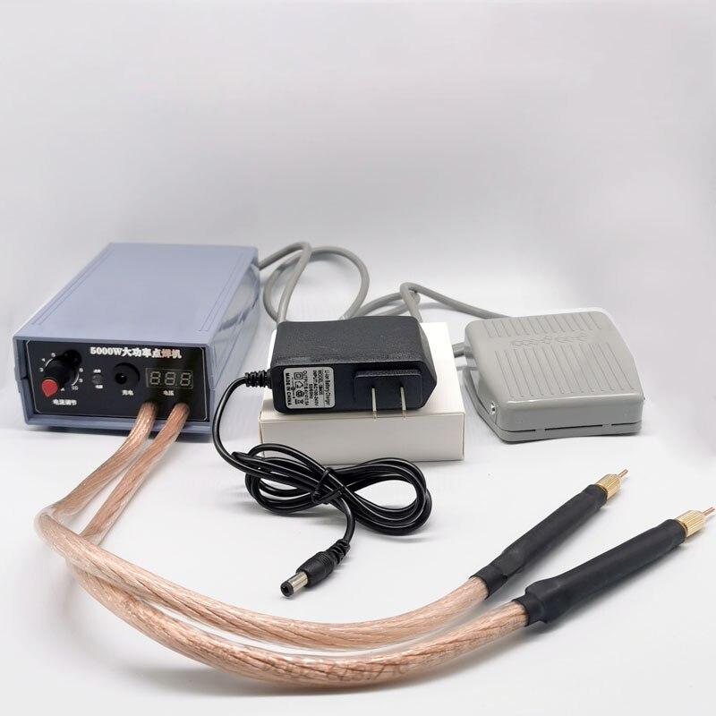 5000w kit soldador a ponto da bateria ferramentas de solda portátil adjustabl ponto máquina de solda 0.2mm tira níquel para diy 18650 bateria