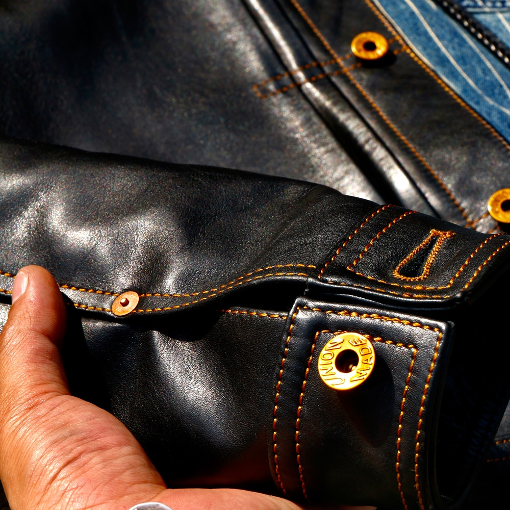 CD506XX  Read Description! Cidu Asian Size Men's Slim Vintage Genuine Italian Tuscany Cow Leather Storm Rider Jacket