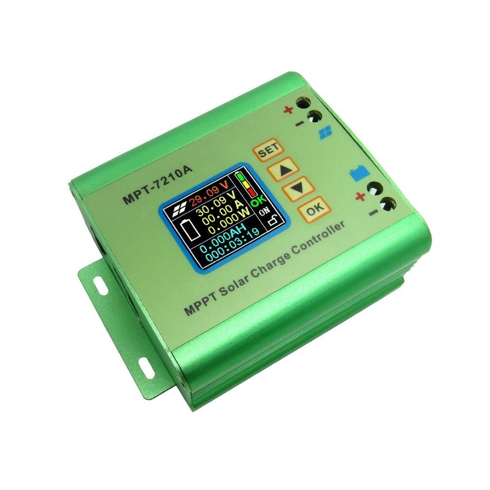 MPT-7210A لون شاشة الكريستال السائل MPPT لوحة طاقة شمسية جهاز التحكم في الشحن 24/36/48/60/72 فولت تعزيز وحدات تحكم البطارية الشمسية