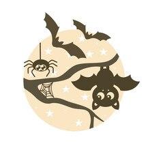 Eastshape هالوين يموت القمر ليلة الخفافيش المعادن قطع يموت 2019 ل بطاقة صنع سكرابوكينغ النقش تخفيضات استنسل الحرفية يموت