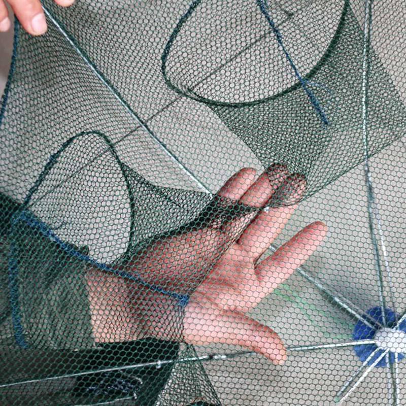 Fishing Net 4-16 Holes Automatic Fishing Net Shrimp Cage Nylon Foldable Crab Fish Trap Cast Net Cast Folding Fishing Network enlarge
