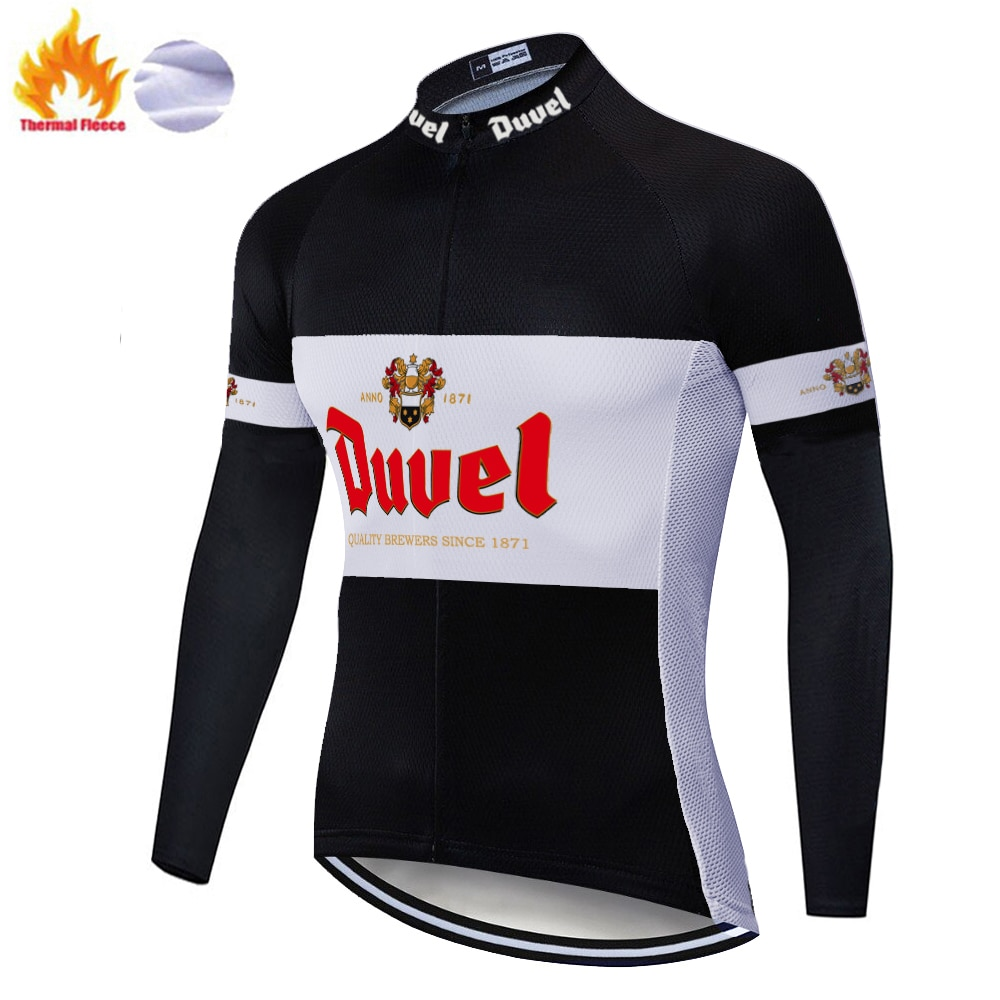 2020 pro team duvel cerveza ciclismo Jersey invierno Polar bicicleta ciclismo manga larga caliente Moutain Bike jersey invierno hombres
