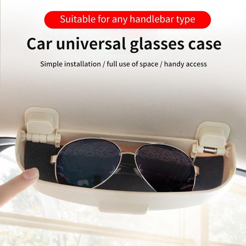 Soporte de gafas para coche, funda con soporte de gafas de sol para Audi Q3 Q5 SQ5 Q7 A1 A3 S3 A4 A6 A7 S6 S7 S4 RS4 A5 S5
