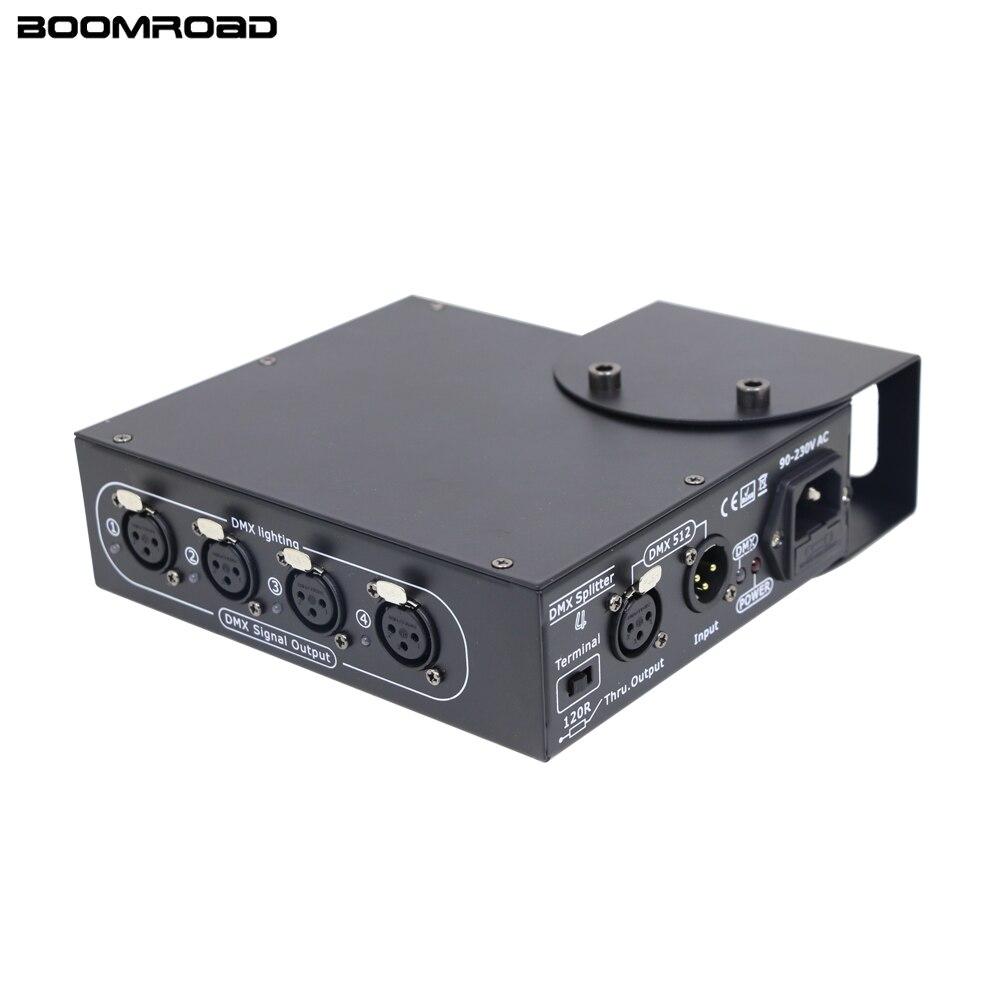 Divisor DMX de 4 vías DMX Control de luz Led barra DMX Dimmer 512 distribuidor DMX luz para escenario DJ efecto de iluminación