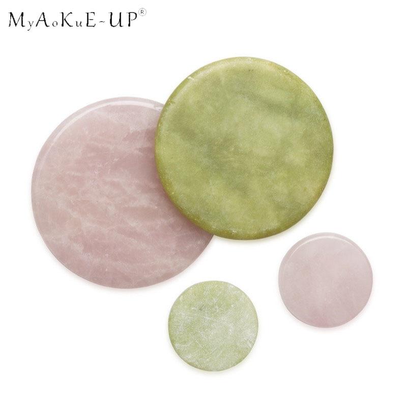 Classic Round Jade Stone False Eyelash Extension Glue Adhesive Pallet Pad Holder for Eyelashes Exten