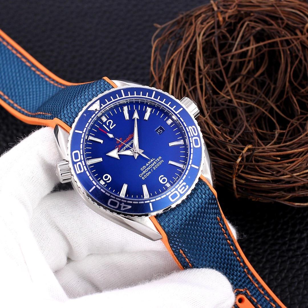 2021 men's watch European and American carbon fiber grain fashion brand quartz watch Black pointer S