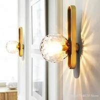 Magic Beans Glass Ball Luxury Wall Lamp American Loft Wall Lamp Living Room Bathroom Mirror Wall Lamps Bedside Wall Saconces