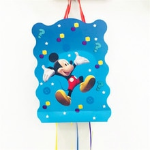 40*30cm/set Kids Birthday Party Supplies Cartoon Theme Mickey Mouse Paper Pinata Disposable Baby Sho