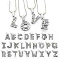 small pendant with full diamond letters a z to choose from suitable for diy wrist band bracelet bracelet necklace