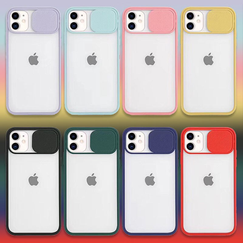 Para iPhone 11 ProMax de lente de la Cámara de protección teléfono caso para iPhone XR XS Max X SE2 8 7 6 6S Plus mate translúcida cubierta dura